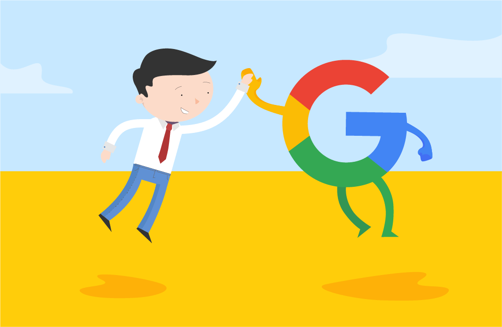 businessman cooperating with google | Elevate Digital