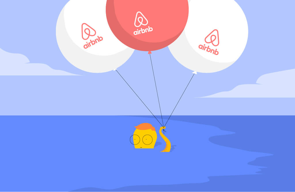 Growth hacker holding airbnb balloons | Elevate Digital