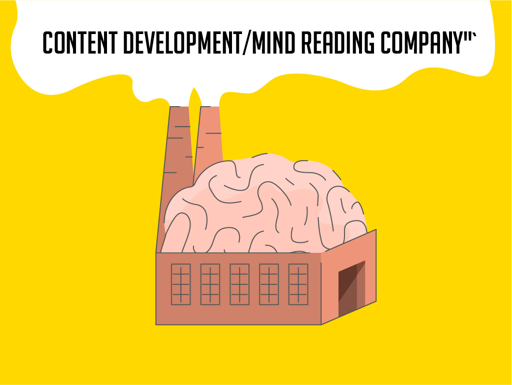 Content development/mind reading company