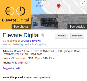 Elevate Digital on Google My Business